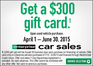 Get a deal on a car from Enterprise!